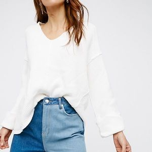 Free People La Brea Sweater White